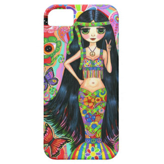 1960s, 1970s Psychedelic Hippie Mermaid Girl iPhone 5 Cases