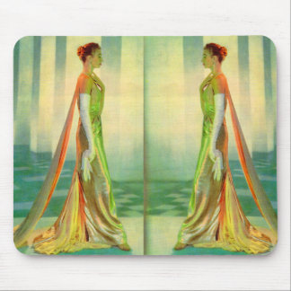 1960s beautiful lady in evening gown x 2 mouse pad