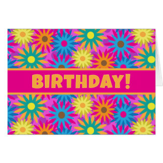 1960s Flower Power Have a Hippy Happy Birthday! Card