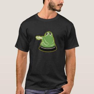 1960s Glowing Green Ghost Black T-Shirt