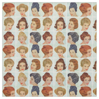 1960s hairstyles grid fabric