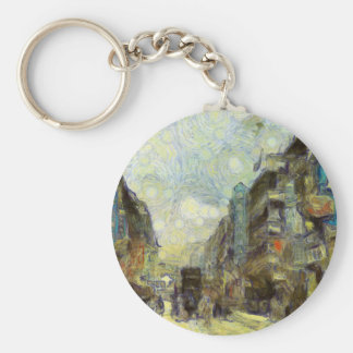 1960s Hong Kong Basic Round Button Keychain