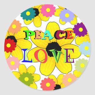 1960s: Peace and Love sticker