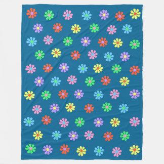 1960's Retro Flower Power Large Fleece Blanket