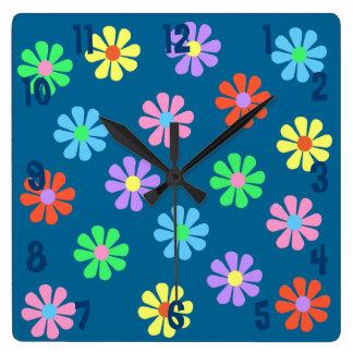 1960's Retro Flower Power Wall Clock