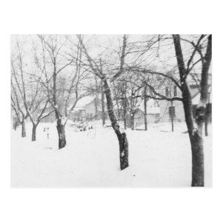 1960's Snowfall Postcard