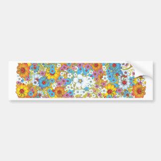 1960s vintage floral flower pattern bumper sticker