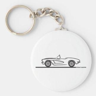1961 1962 Chevrolet Corvette Keychain