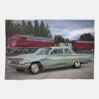 1961 Chevy Chevrolet Biscayne Classic Car Kitchen Towel