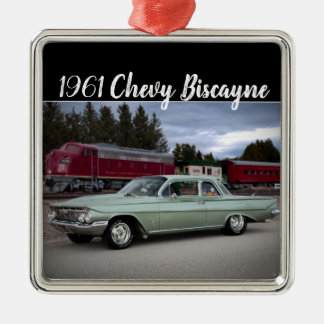 1961 Chevy Chevrolet Biscayne Classic Car Metal Ornament