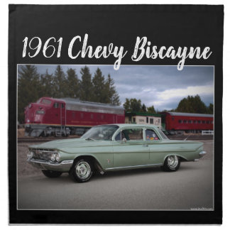 1961 Chevy Chevrolet Biscayne Classic Car Napkin