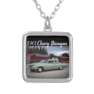1961 Chevy Chevrolet Biscayne Classic Car Silver Plated Necklace