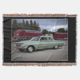 1961 Chevy Chevrolet Biscayne Classic Car Throw Blanket