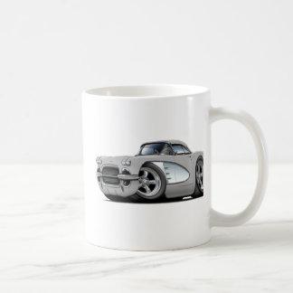 1961 Corvette Silver Car Coffee Mug