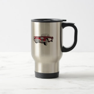 1961 Corvette: Sports Car: 3D Model: Travel Mug