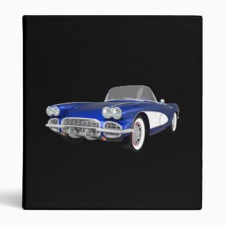 1961 Corvette Sports Car: Blue Finish: Binder