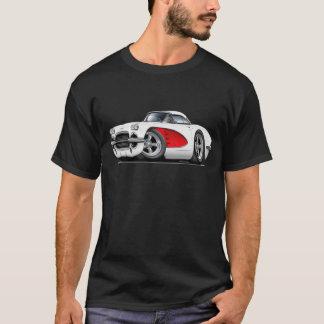 1961 Corvette White-Red Car T-Shirt