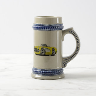 1961 Corvette Yellow Convertible Beer Stein