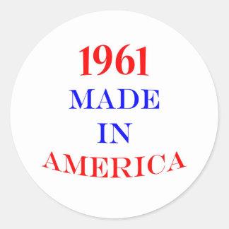 1961 Made in America Round Sticker