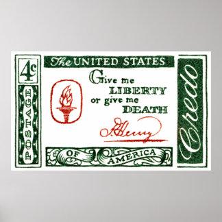 1961 Patrick Henry American Credo Poster