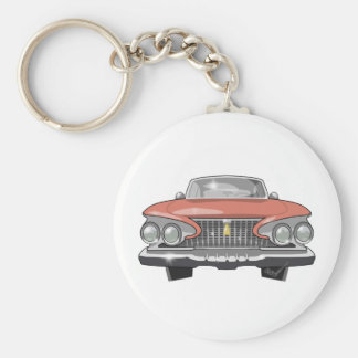 1961 Plymouth Fury Basic Round Button Keychain
