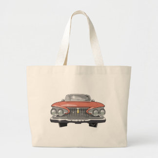 1961 Plymouth Fury Large Tote Bag
