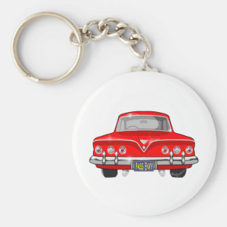 1961 Red Chevrolet Basic Round Button Keychain