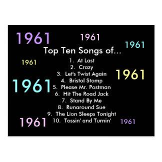 1961 Songs Postcard