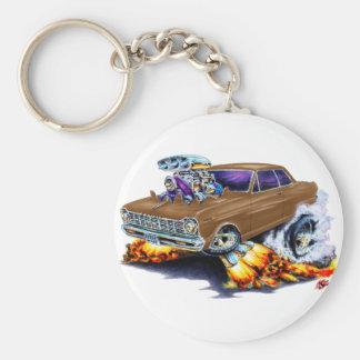 1962-65 Nova Brown Car Basic Round Button Keychain