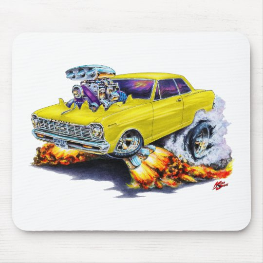 1962-65 Nova Yellow Car Mouse Pad