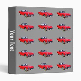 1962 Chevrolet Corvette Convertible Sports Car 3 Ring Binders