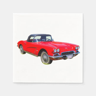 1962 Chevrolet Corvette Convertible Sports Car Disposable Napkins