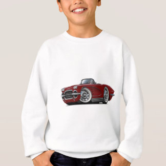 1962 Corvette Maroon Convertible Sweatshirt