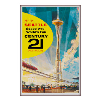 1962 Fly to Seattle Space Age World's Fair, Poster