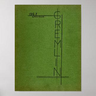 1962 Graydon Gremlin Yearbook Poster