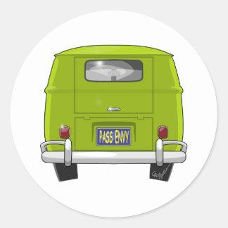 1962 Hippie Van Classic Round Sticker