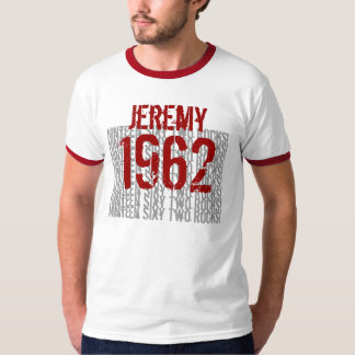 1962 Rocks Custom Name Birthday T-Shirt
