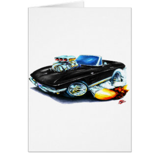 1963-64 Corvette Black Convertible Card