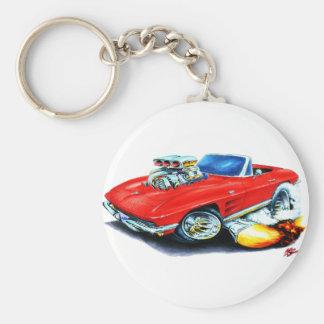 1963-64 Corvette Red Convertible Keychain