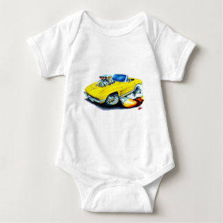 1963-64 Corvette Yellow Convertible Baby Bodysuit