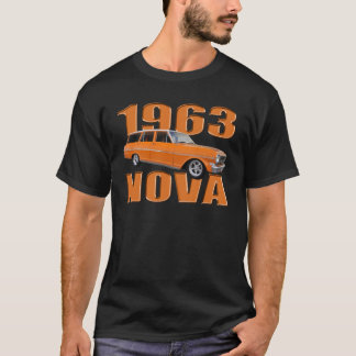 1963 chevy II nova longroof wagon in orange T-Shirt