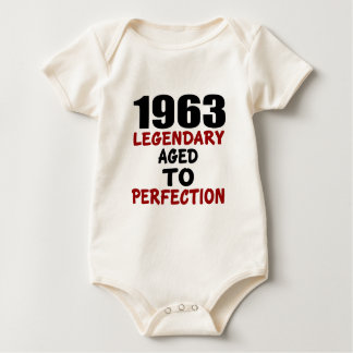 1963 LEGENDARY AGED TO PERFECTION BABY BODYSUIT