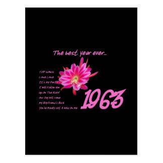 1963 OLDIES Anniversary Birthday Reunion Gift Postcard