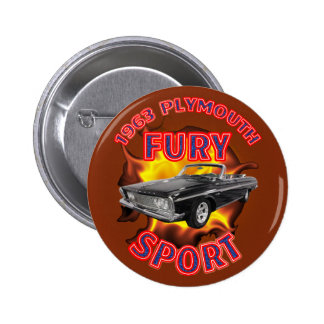 1963 Plymouth Fury Sport Button. 2 Inch Round Button