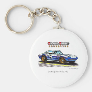 1963 Roger Penske Coupe racing Grand Sport Basic Round Button Keychain