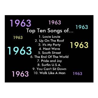 1963 Songs Postcard
