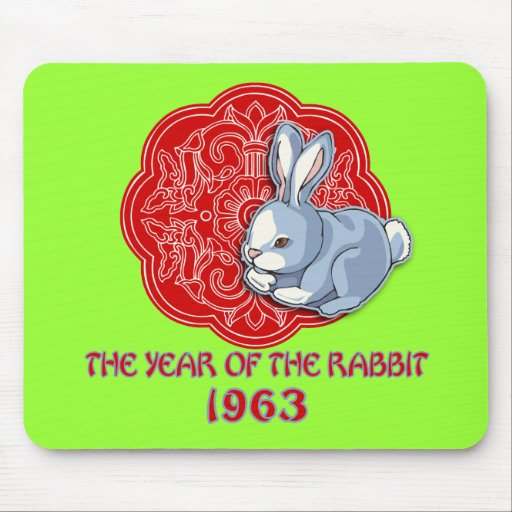 1963 The Year of the Rabbit Gifts Mousepad