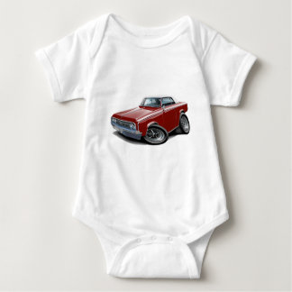 1964-65 Cutlass Maroon-White Car Baby Bodysuit