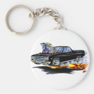 1964-65 El Camino Black Truck Basic Round Button Keychain