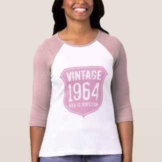1964 a vieilli aux femmes de l'anniversaire 5oth d t-shirt